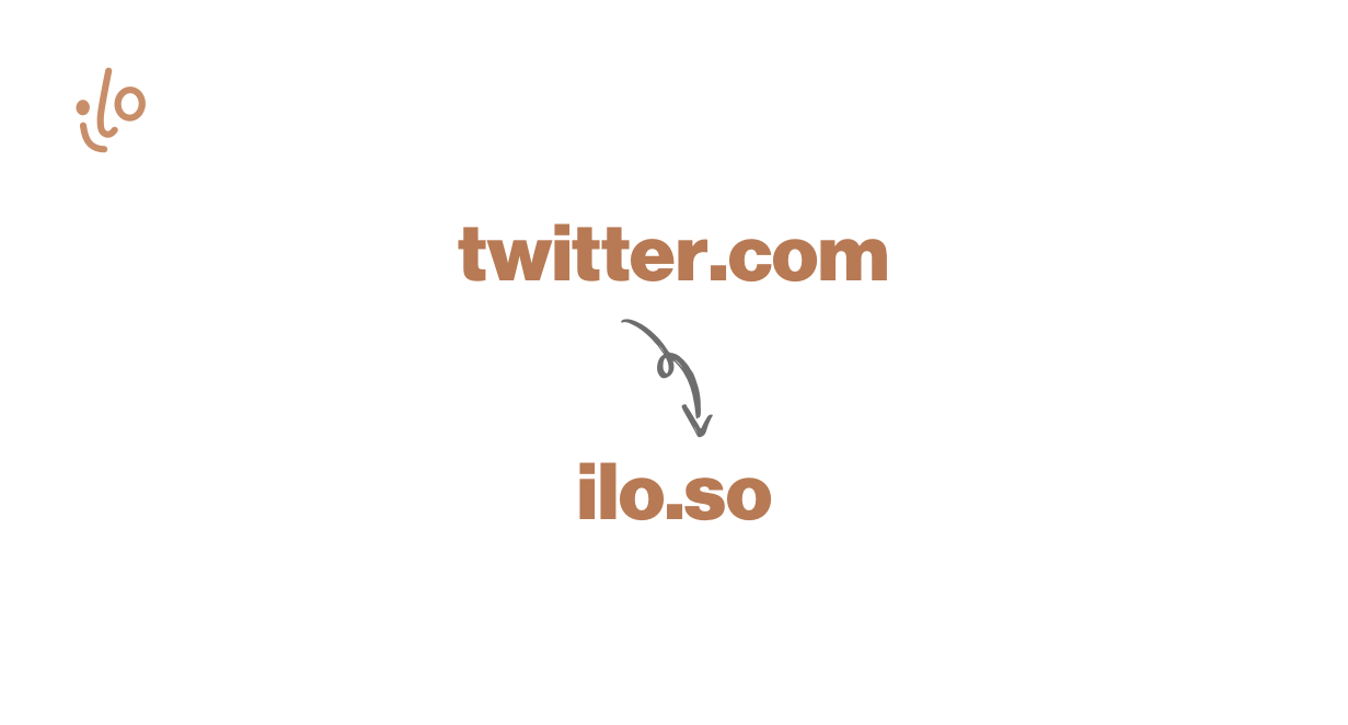 Easily switch from Twitter to ilo